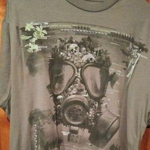 Marc ecko men's t-shirt skulls gas mask